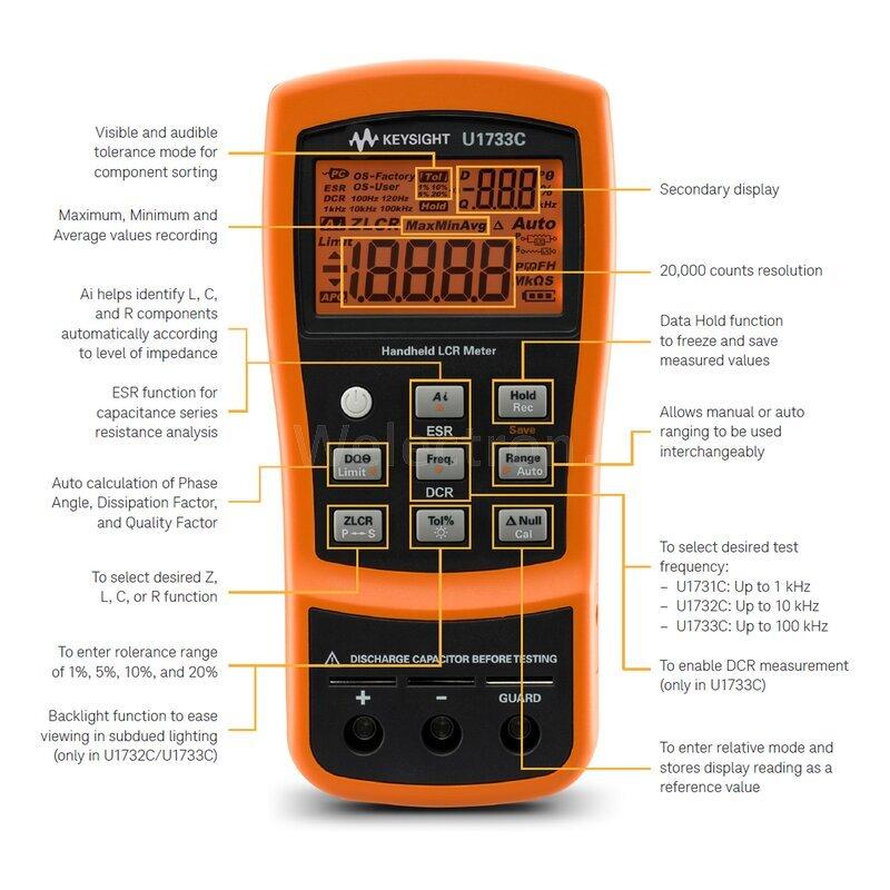 Keysight Lcr Meter : Keysight u c lcr meter series